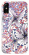 Abstract Red And Blue Design  IPhone Case