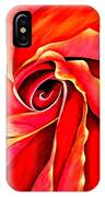 Abstract Rosebud Fire Orange IPhone Case