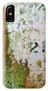 Rust Absract With Stenciled Numbers IPhone Case