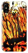 Abstract Saw Grass Iv IPhone Case