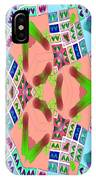 Abstract Seamless Pattern - Blue Pink Green Purple IPhone Case
