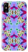 Abstract Seamless Pattern  - Blue Pink Purple Red Green Brown White IPhone Case