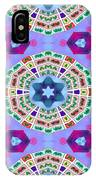 Abstract Seamless Pattern  - Blue Purple Pink Violet Lilac Orange Green IPhone Case