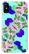 Abstract Seamless Pattern  - Blue Turquoise Green Pink White IPhone Case