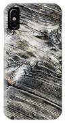 Abstract Shapes On An Old Weathered Wooden Board IPhone Case
