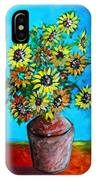 Abstract Sunflowers W/vase IPhone Case
