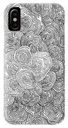 Abstract Swirl Design In Black And White #1 IPhone Case