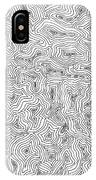 Abstract Swirl Design In Black And White IPhone Case