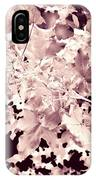 Abstract Tree Landscape Dark Botanical Art Rose Tinted IPhone Case