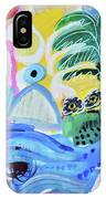 Abstract Tropical Landscape IPhone X Case