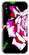 Abstract White Red And Pink Roses IPhone Case