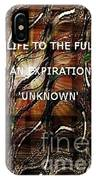 Abstract With Quote IPhone Case