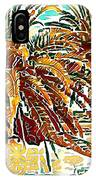 Abstracted Loop Palms IPhone Case