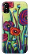 Abstracted Poppies IPhone Case