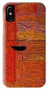 Abstrakt In Orange IPhone Case