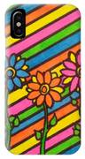 Aceo Abstract Flowers IPhone Case