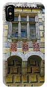 Achitecture Of The Little Castle Within Cesky Krumlov In The Czech Republic IPhone Case