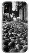 Acorn Street Cobblestone Detail Boston Ma Black And White IPhone Case