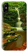 Adams Falls Portrait IPhone Case