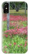 Adding A Splash Of Color-indian Paintbrush In Texas IPhone Case
