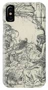 Adoration Of The Shepherds, With Lamp IPhone Case