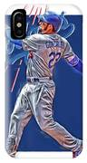 Adrian Gonzalez Los Angeles Dodgers Oil Art IPhone Case