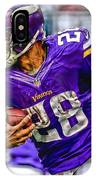 Adrian Peterson Minnesota Vikings Art IPhone Case