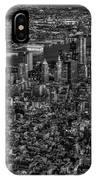 Aerial New York City Sunset Bw Bw IPhone Case