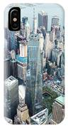 Aerial Of One World Trade Center, New York, Usa IPhone Case