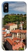 Aerial Of Piran Slovenia On Gulf Of Trieste Adriatic Sea With St IPhone Case