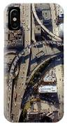 Aerial Of The Maze Near The Bay Bridge, San Francisco IPhone Case
