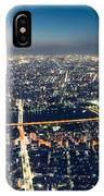 Aerial View Cityscape At Night IPhone Case