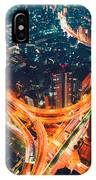 Aerial View Of A Massive Highway Intersection In Tokyo IPhone Case
