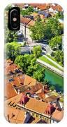 Aerial View Of Ljubljana Green River IPhone Case