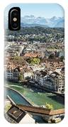 Aerial View Of Lucerne In Switzerland.  IPhone Case