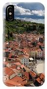 Aerial View Of Piran Slovenia On The Adriatic Sea Coast With Har IPhone Case