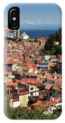Aerial View Of Piran Slovenia With St George's Cathedral On The  IPhone Case