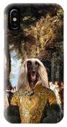 Afghan Hound-the Winch Canvas Fine Art Print IPhone Case