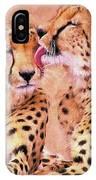 African Cheetah's  IPhone Case
