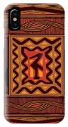 African Collage Rust IPhone Case