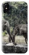 African Elephants_hdr IPhone Case