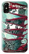 Afternoon Tea Aqua IPhone Case