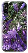 Agapanthus Flowers In Purple - New And Old IPhone Case