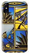 Art Deco In Blue IPhone Case