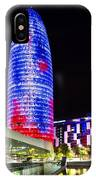 Agbar Tower In Barcelona IPhone Case