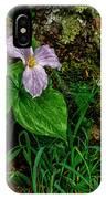 Aged White Trillium With Raindrops IPhone Case