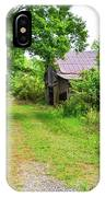 Aging Barn In Woods IPhone Case