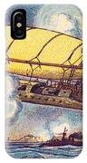 Air Battle, 1900s French Postcard IPhone Case