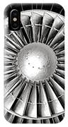 Aircraft Turbofan Engine IPhone Case