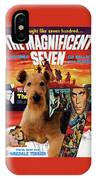 Airedale Terrier Art Canvas Print - The Magnificent Seven Movie Poster IPhone Case